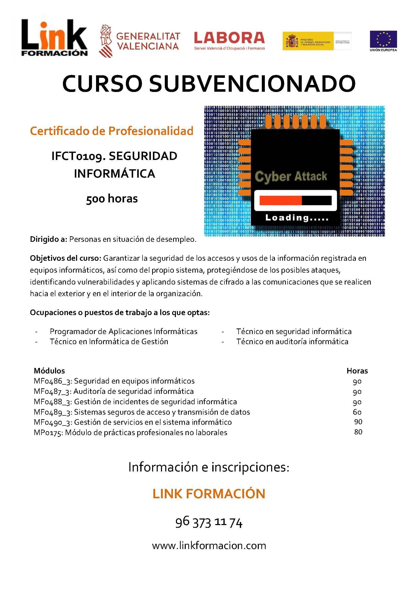 IFCT0109 SEGURIDAD INFORMÁTICA